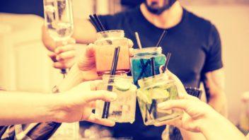 bar de cocktail pentru petreceri de burlaci
